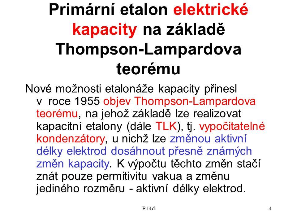 Primární etalon elektrické kapacity na základě Thompson-Lampardova teorému