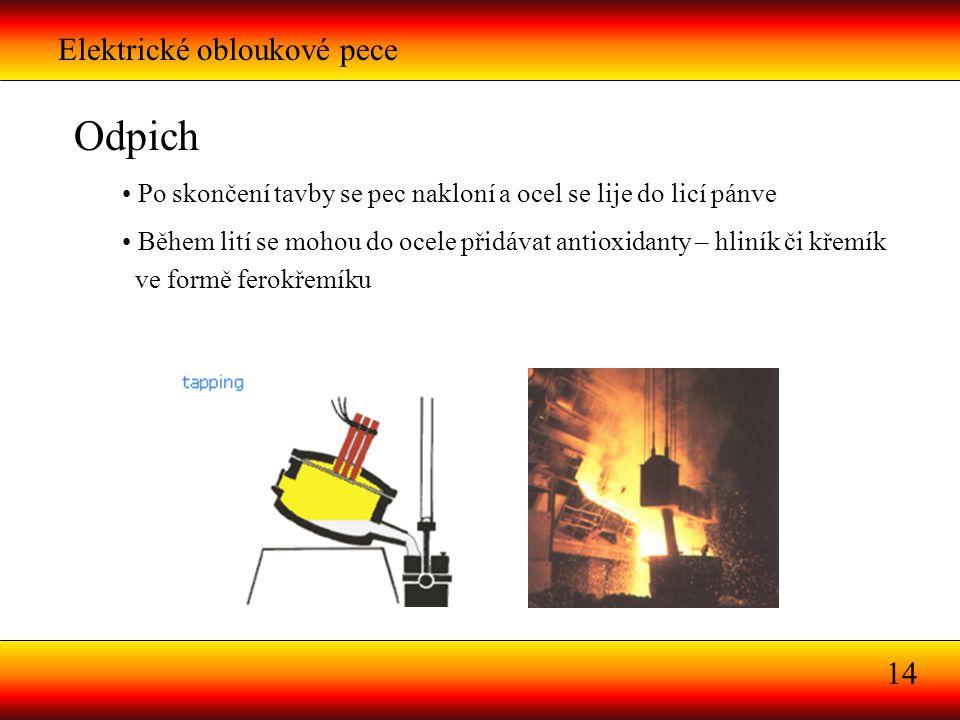 Odpich Elektrické obloukové pece 14