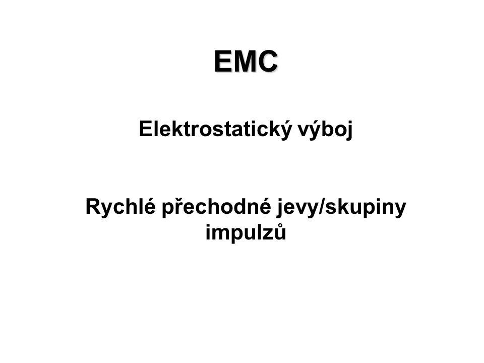 Elektrostatický výboj Rychlé přechodné jevy/skupiny impulzů