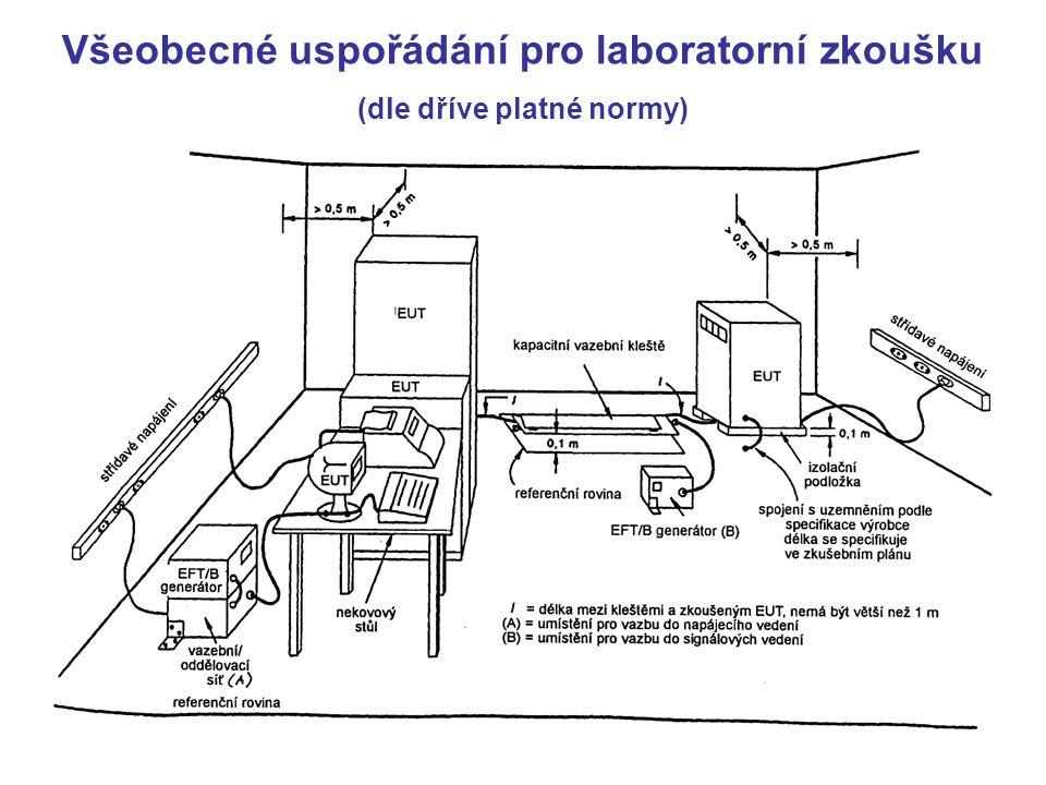 Všeobecné uspořádání pro laboratorní zkoušku (dle dříve platné normy)