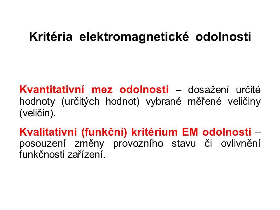 Kritéria elektromagnetické odolnosti