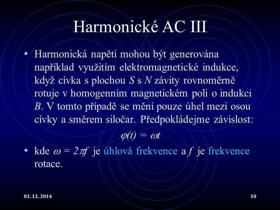 Harmonické AC III