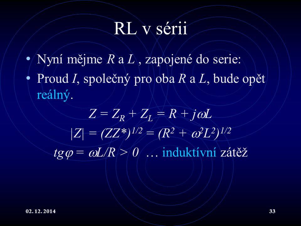 tg = L/R > 0 … induktívní zátěž