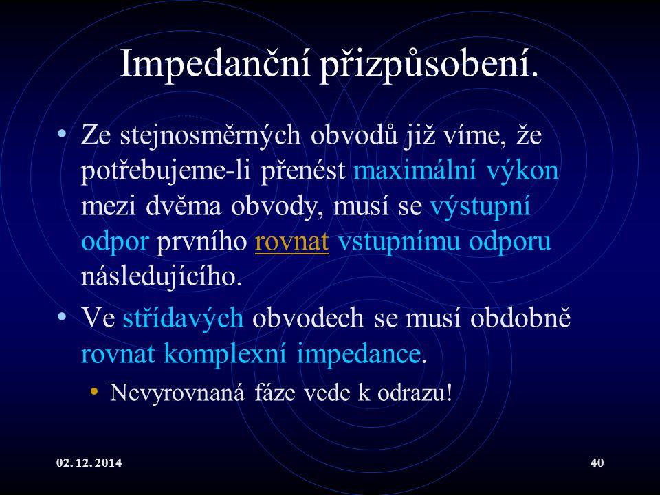 Impedanční přizpůsobení.