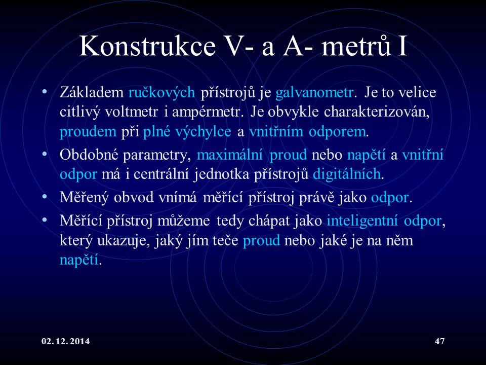 Konstrukce V- a A- metrů I