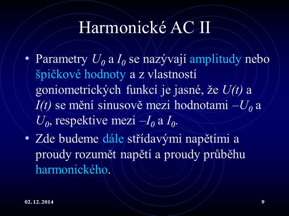 Harmonické AC II
