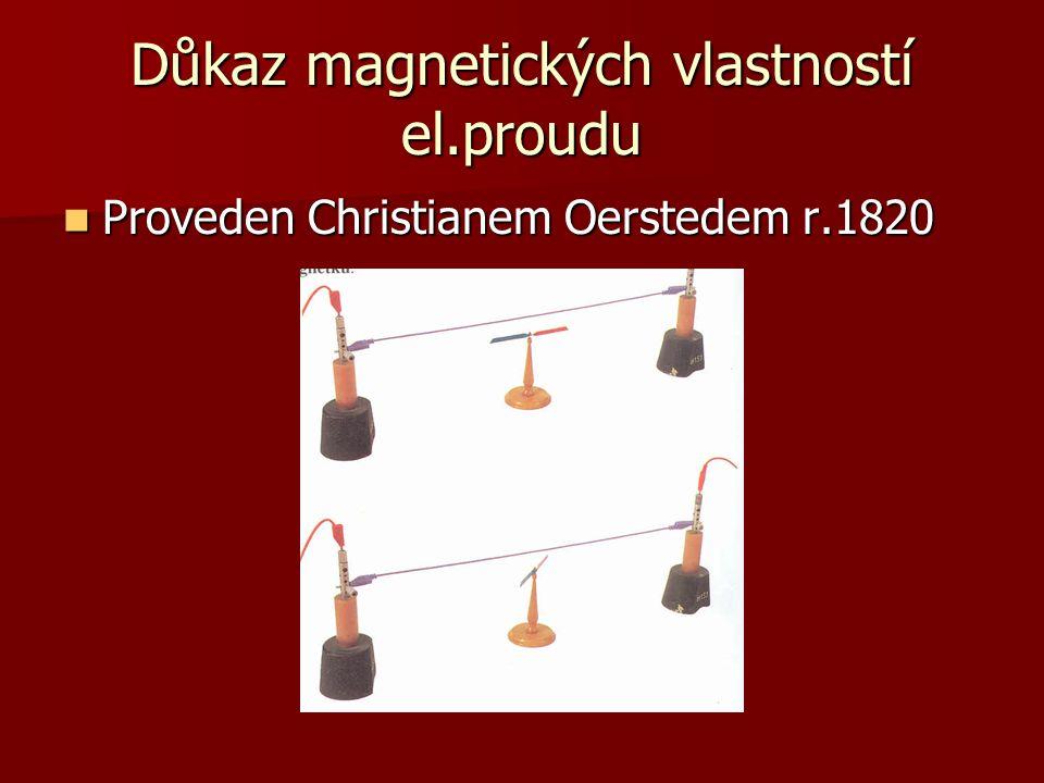Důkaz magnetických vlastností el.proudu