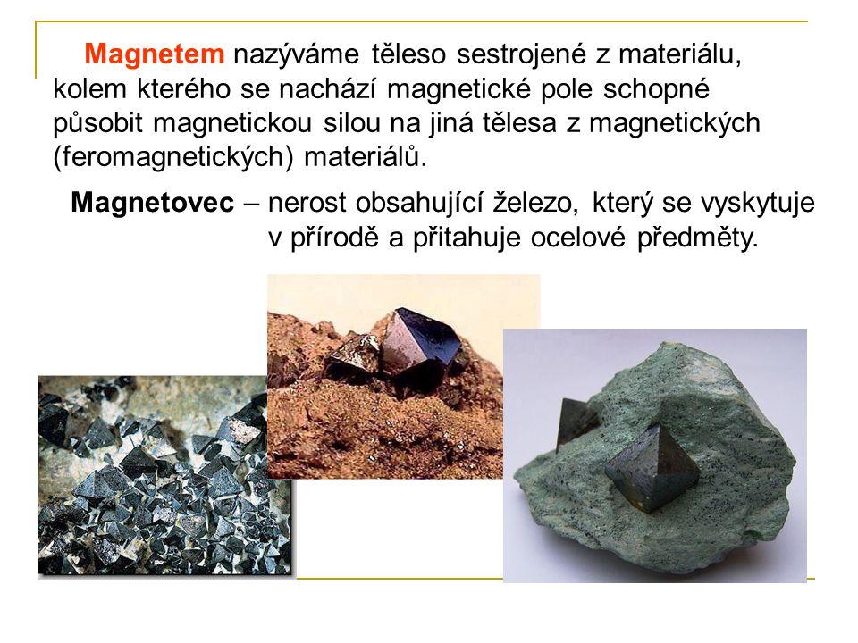 Magnetem nazýváme těleso sestrojené z materiálu, kolem kterého se nachází magnetické pole schopné působit magnetickou silou na jiná tělesa z magnetických (feromagnetických) materiálů.