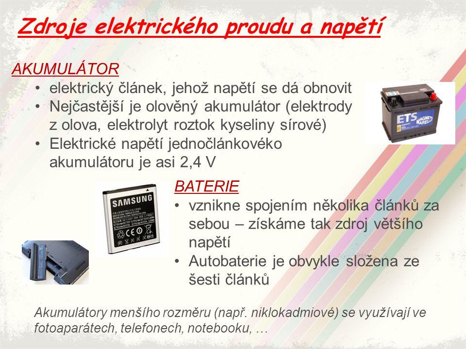 Zdroje elektrického proudu a napětí