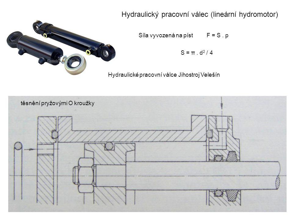 Hydraulický pracovní válec (lineární hydromotor)