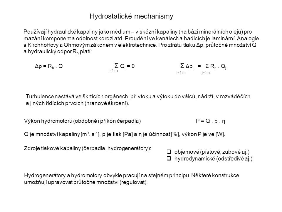 Hydrostatické mechanismy