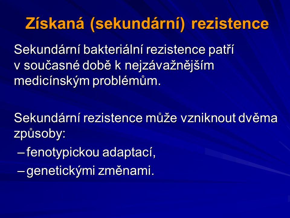 Získaná (sekundární) rezistence