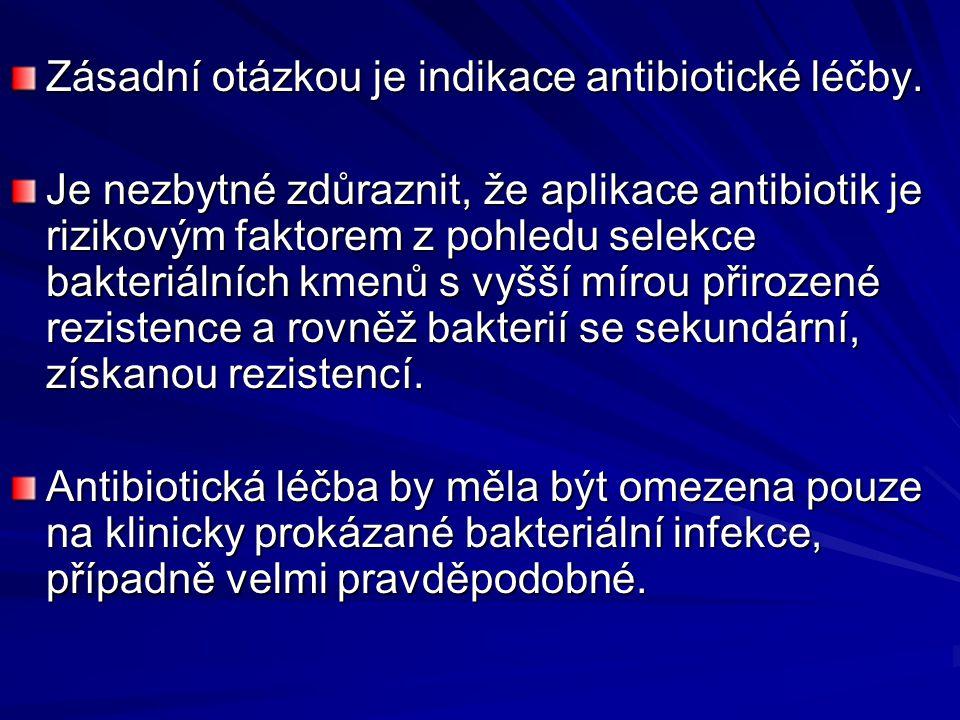 Zásadní otázkou je indikace antibiotické léčby.