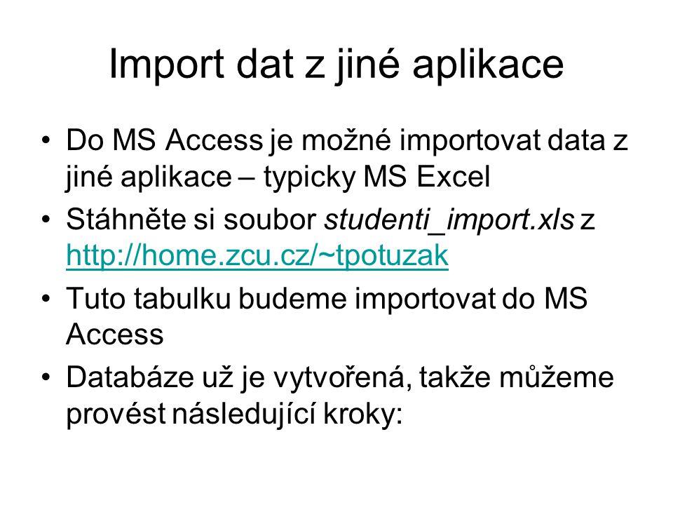 Import dat z jiné aplikace