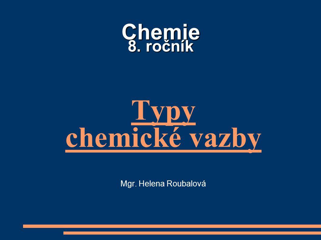 Typy chemické vazby Mgr. Helena Roubalová