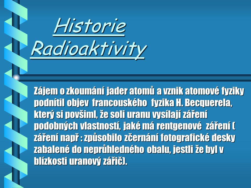 Historie Radioaktivity