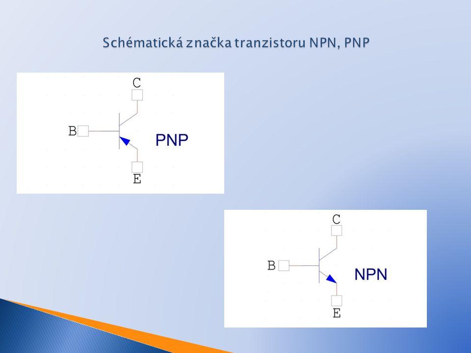 Schématická značka tranzistoru NPN, PNP