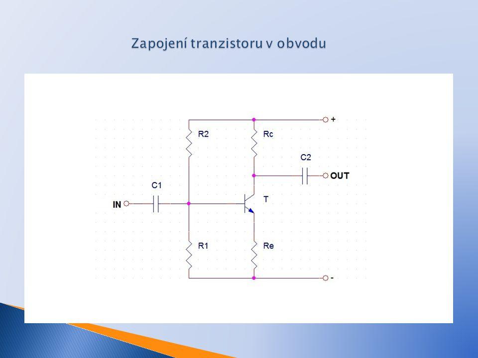 Zapojení tranzistoru v obvodu