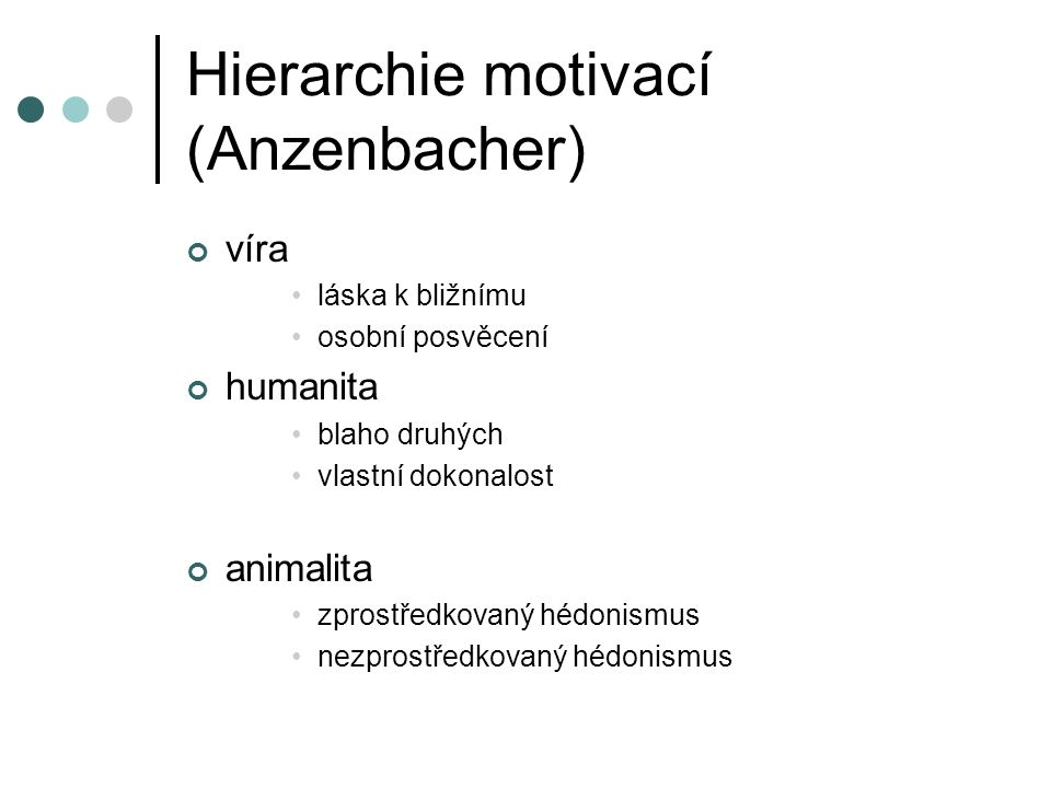 Hierarchie motivací (Anzenbacher)