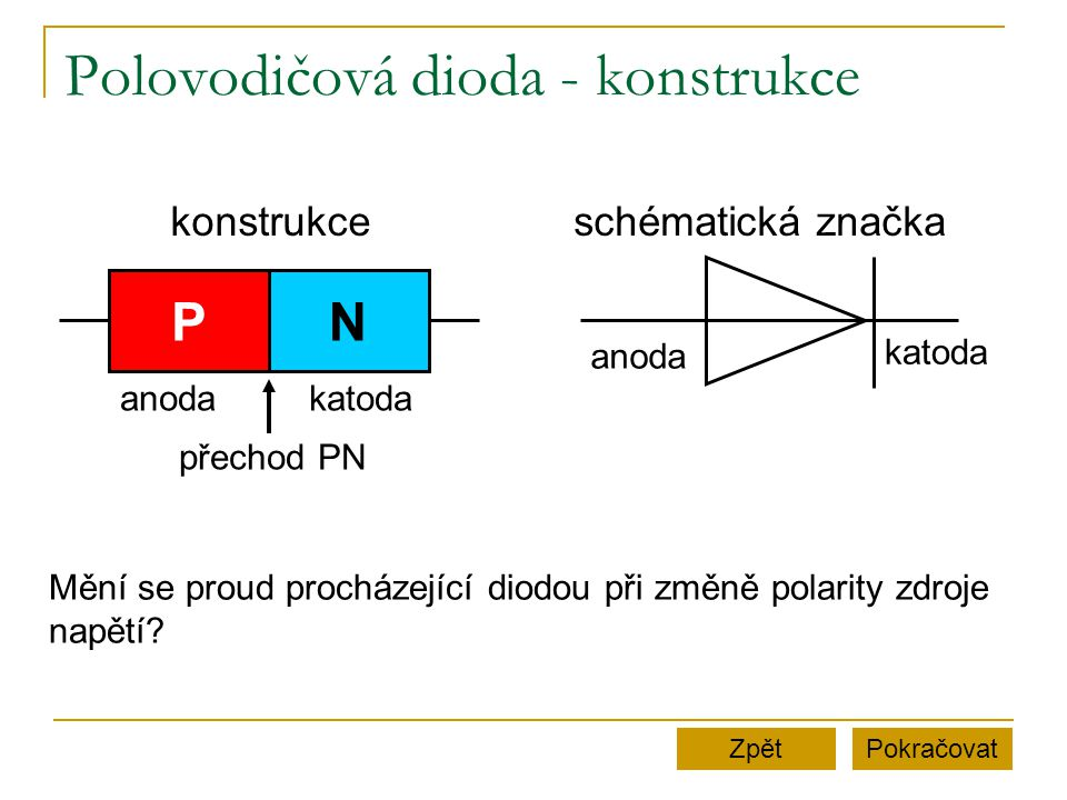 Polovodičová dioda - konstrukce