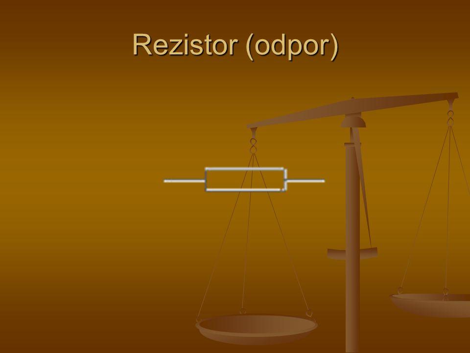 Rezistor (odpor)