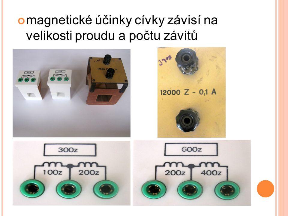 magnetické účinky cívky závisí na velikosti proudu a počtu závitů
