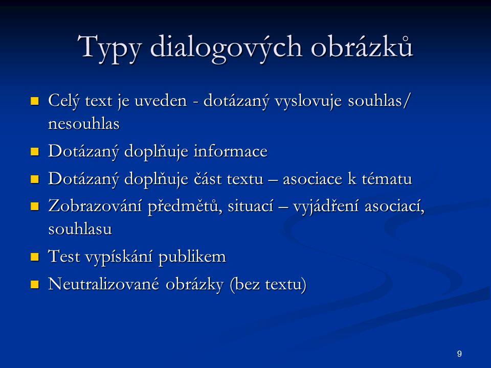 Typy dialogových obrázků