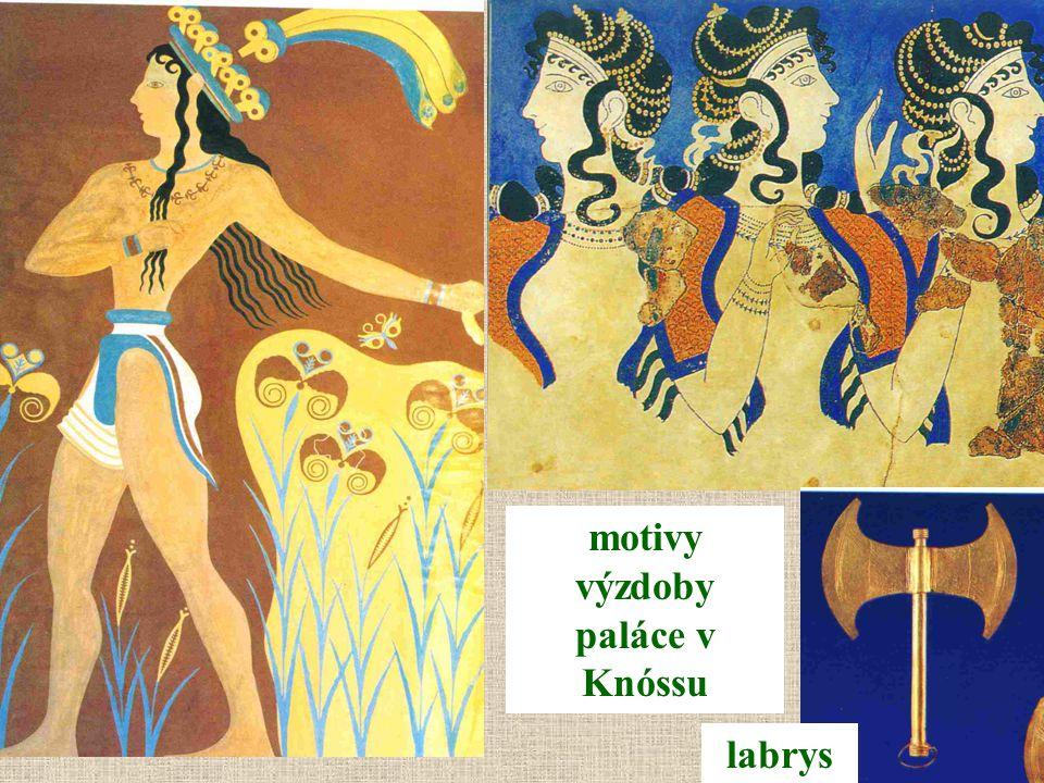 motivy výzdoby paláce v Knóssu