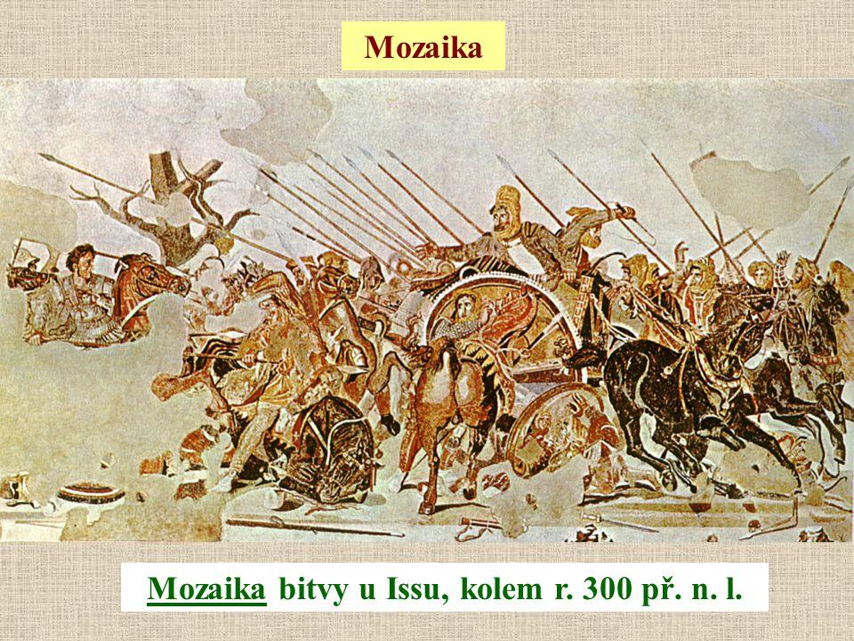 Mozaika bitvy u Issu, kolem r. 300 př. n. l.