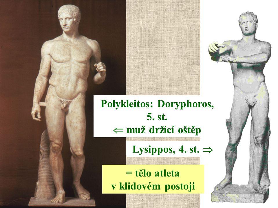 Polykleitos: Doryphoros, 5. st.  muž držící oštěp