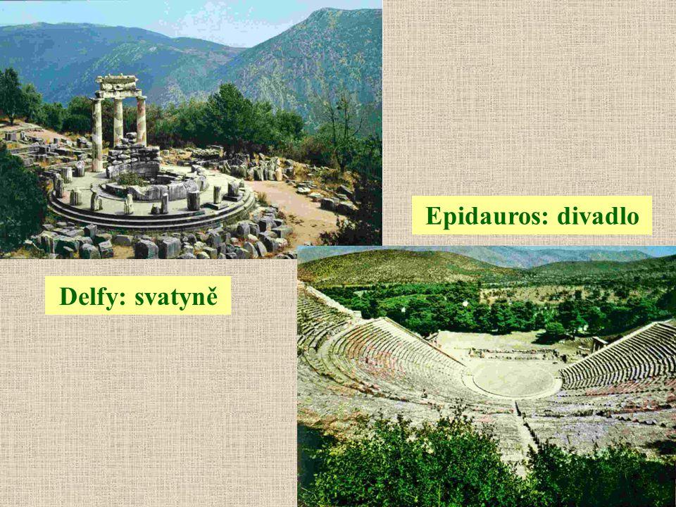 Epidauros: divadlo Delfy: svatyně