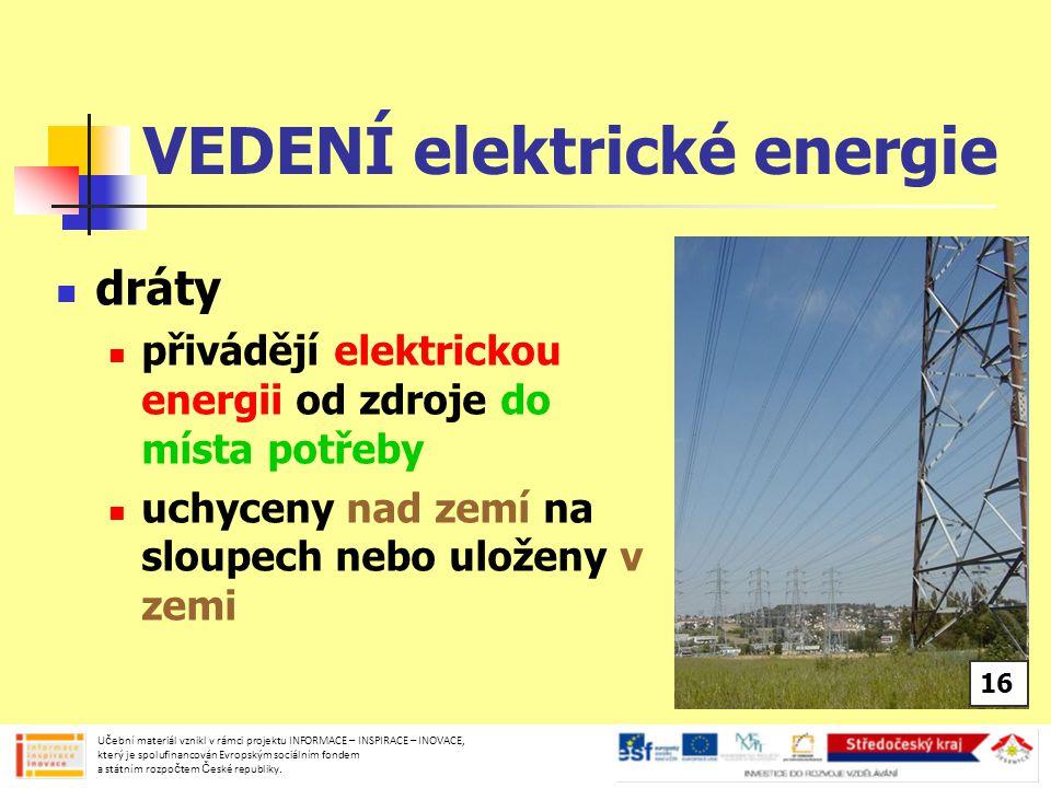 VEDENÍ elektrické energie