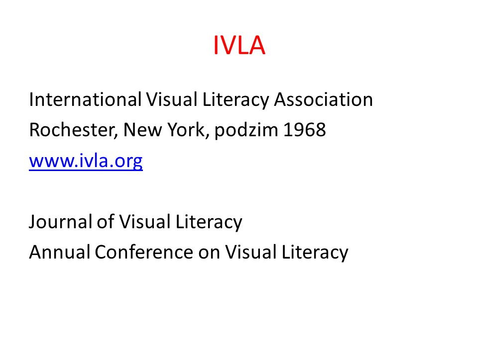 IVLA International Visual Literacy Association