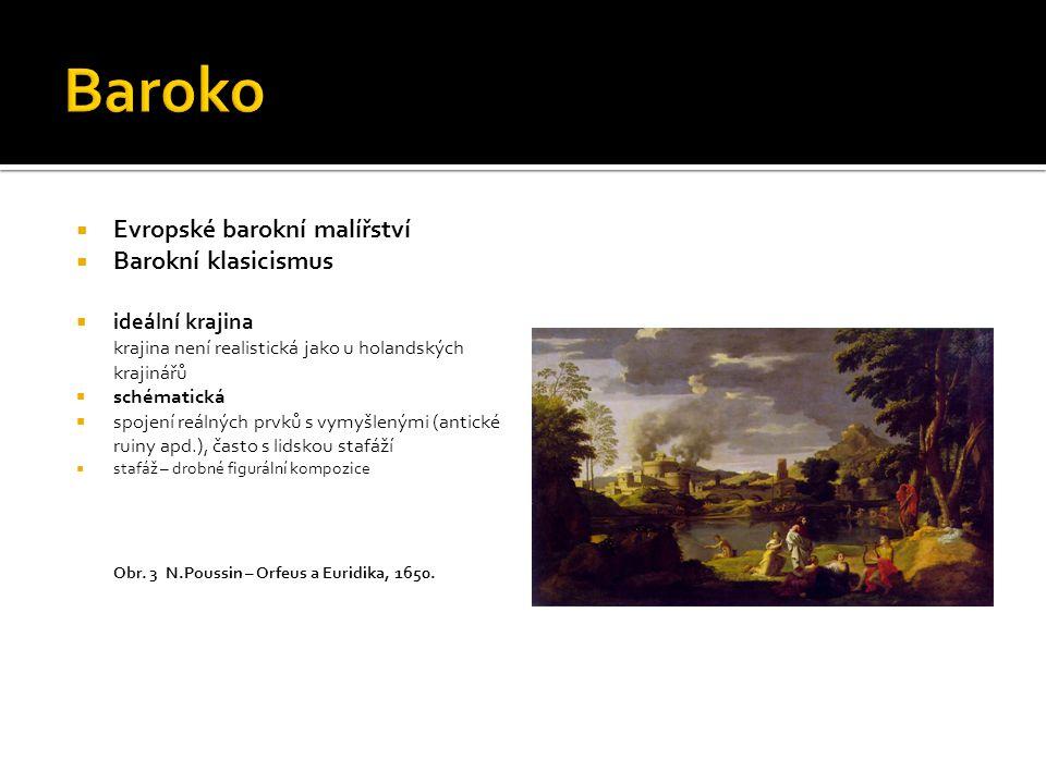 Baroko Evropské barokní malířství Barokní klasicismus ideální krajina