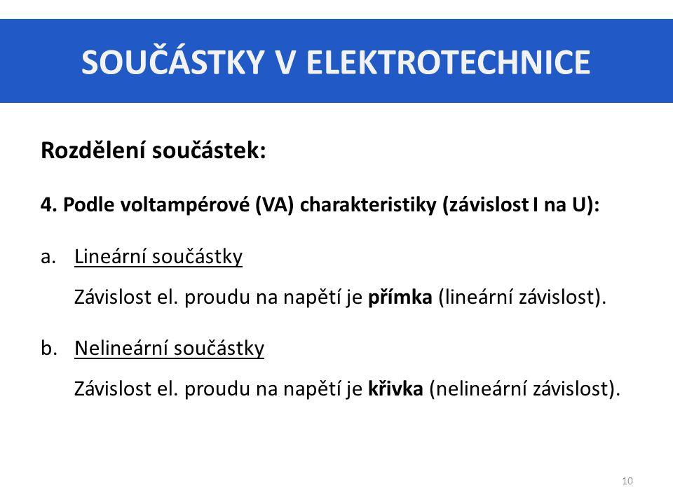 SOUČÁSTKY V ELEKTROTECHNICE