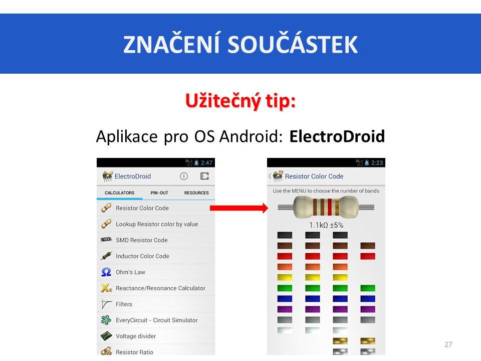 Aplikace pro OS Android: ElectroDroid