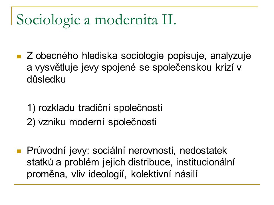 Sociologie a modernita II.