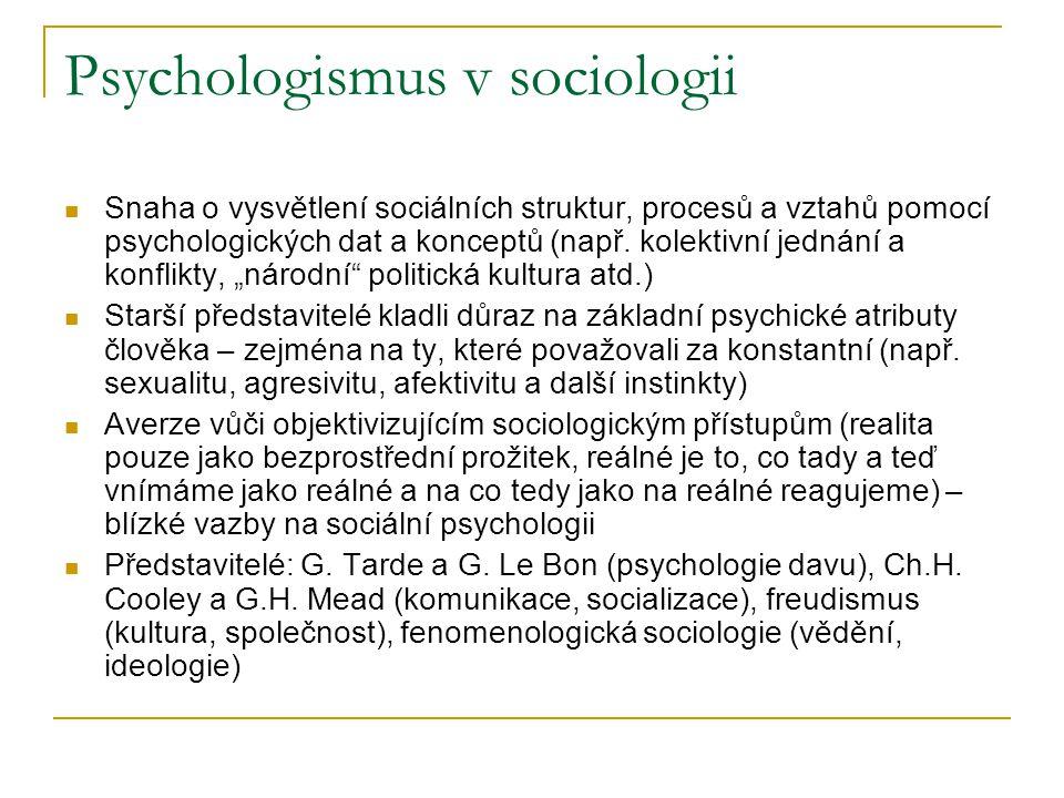 Psychologismus v sociologii