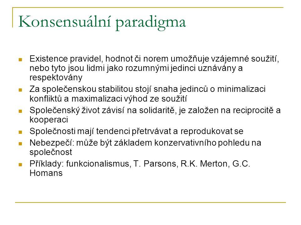 Konsensuální paradigma