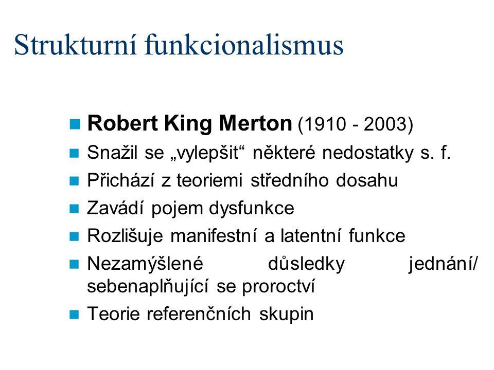 Strukturní funkcionalismus