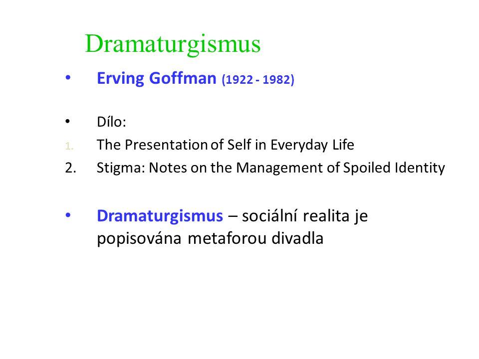 Dramaturgismus Erving Goffman (1922 - 1982)