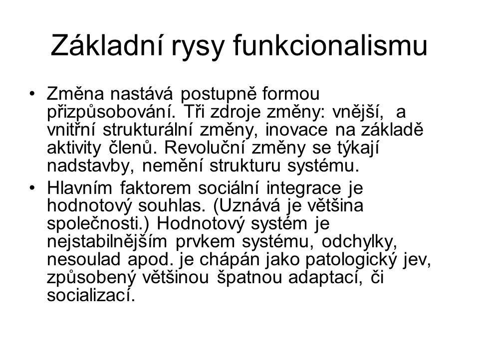 Základní rysy funkcionalismu