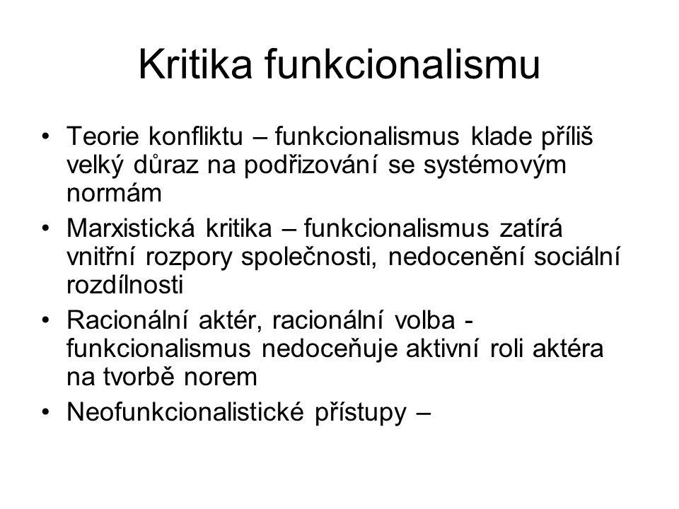 Kritika funkcionalismu