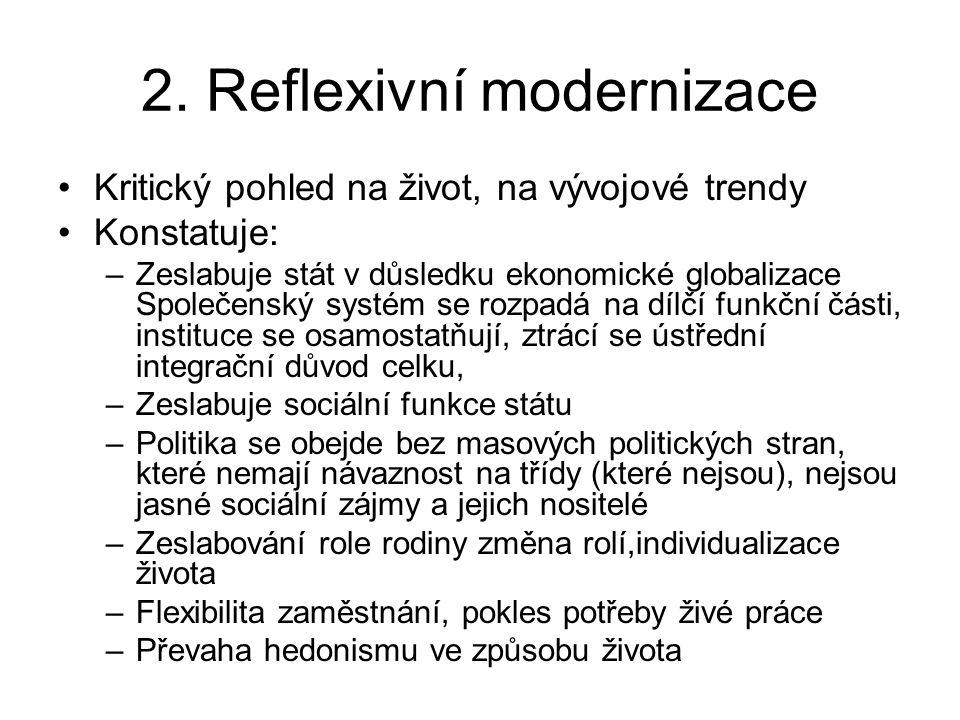 2. Reflexivní modernizace