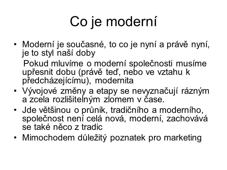Co je moderní Moderní je současné, to co je nyní a právě nyní, je to styl naší doby.