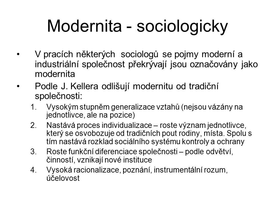 Modernita - sociologicky