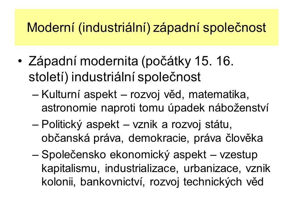 Moderní (industriální) západní společnost