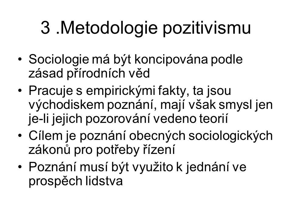 3 .Metodologie pozitivismu