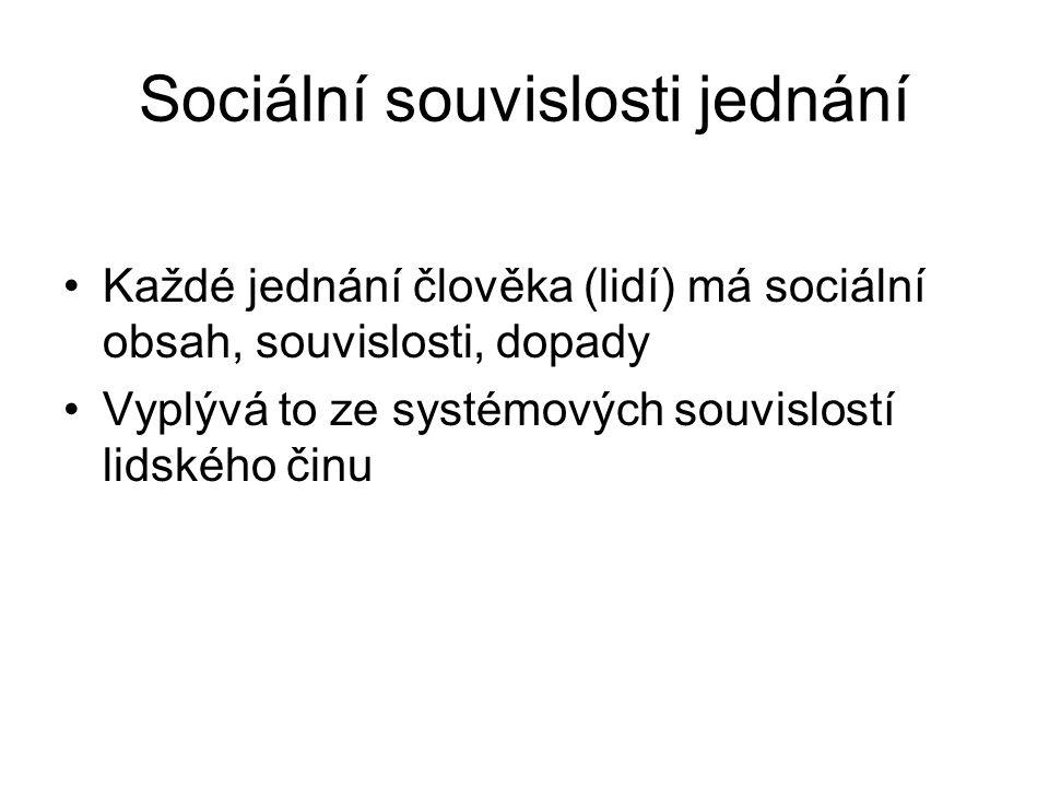 Sociální souvislosti jednání