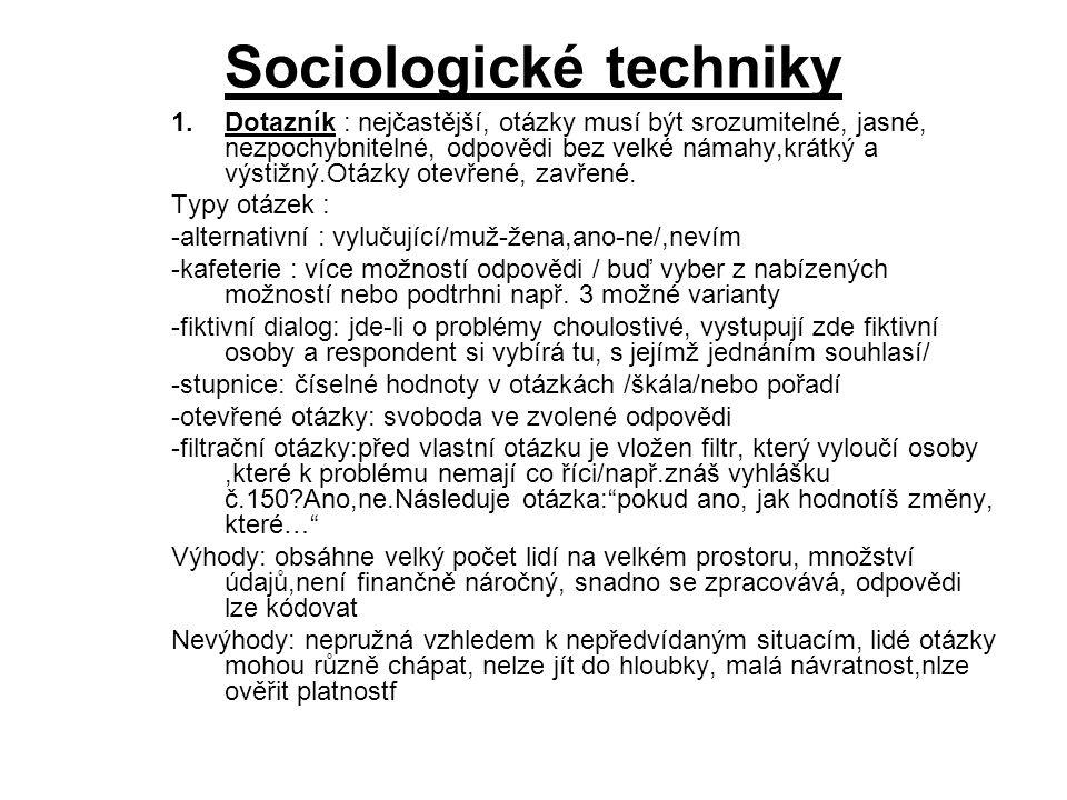 Sociologické techniky